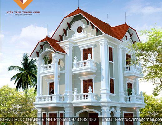 Thiết kế thi công biệt thự tại thành phố Vinh - Nghệ An, thiết kế thi công biệt thự tại nghệ an, thuê kiến trúc sư thiết kế biệt thự tại Vinh, thiết kế thi công biệt thự tại hà tĩnh , thanh hóa