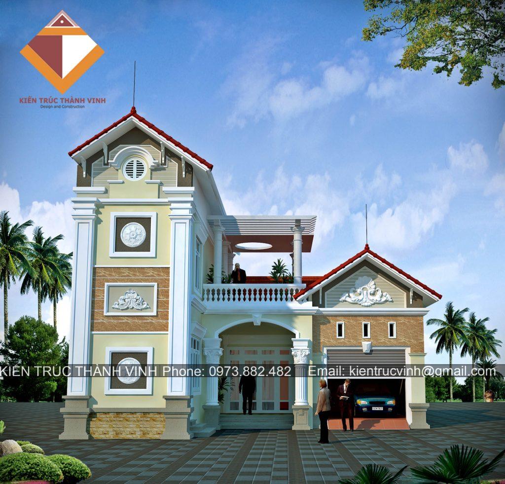 Thiết kế thi công biệt thự trọn gói tại thành phố Vinh