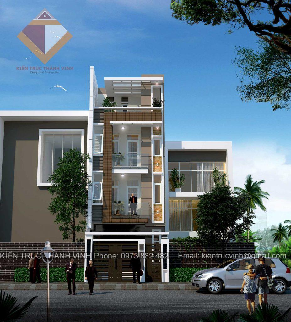 Phối cảnh nhà phố tại thành phố Vinh view 2