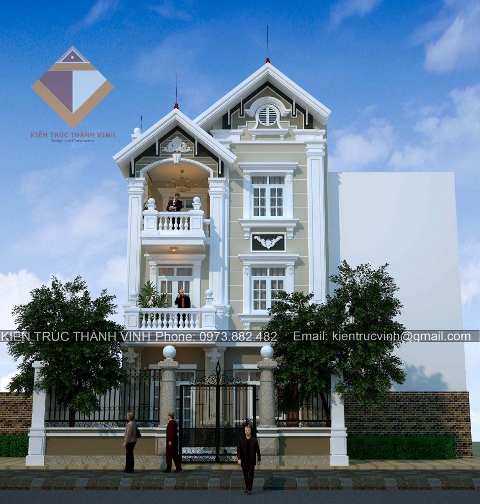 Nhà 3 tầng tân cổ điển đẹp view 2