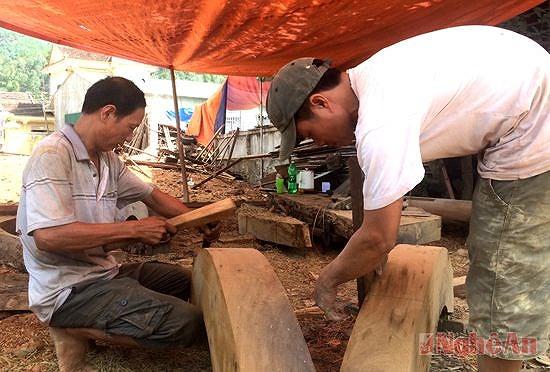 Thợ mộc ở xã Nam Lộc - Huyện Nam Đàn rất khéo léo, tài hoa