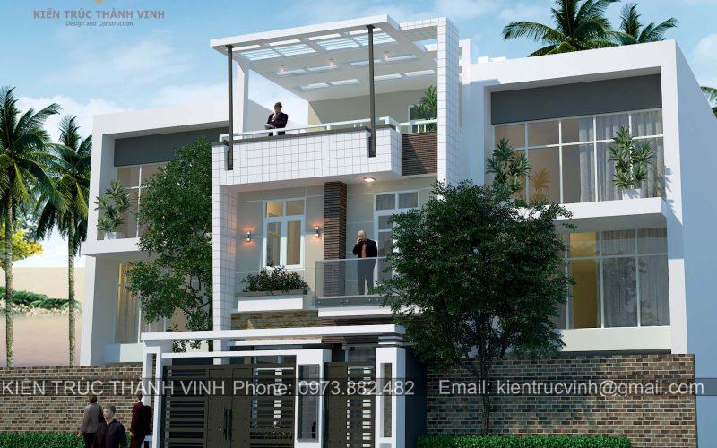 Phối cảnh công trình nhà lô phố 3 tầng