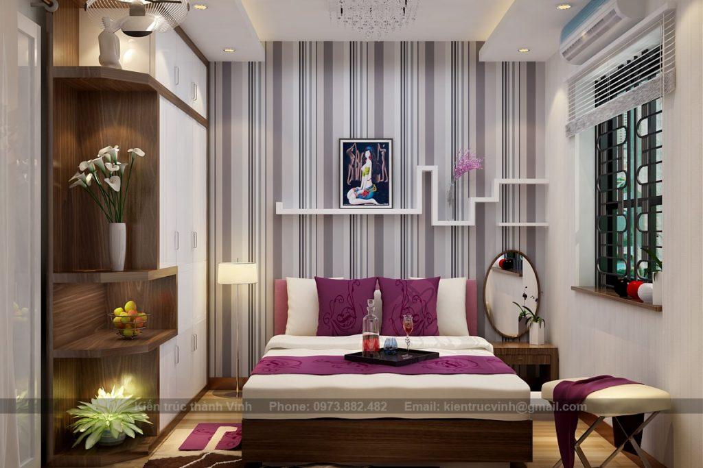 Nội thất phòng ngủ chung cư có diện tích nhỏ 4