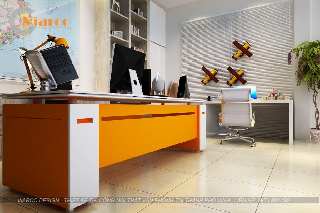 Thiết kế thi công nội thất văn phòng tại thành phố Vinh Nghệ An