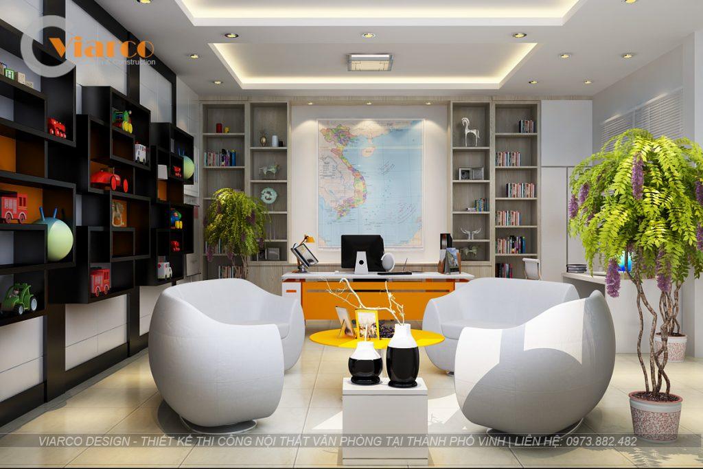 Thiết kế thi công nội thất văn phòng tại thành phố Vinh Nghệ An1