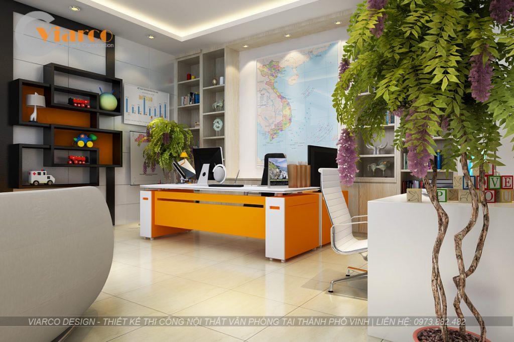 Thiết kế thi công nội thất văn phòng tại thành phố Vinh Nghệ An2