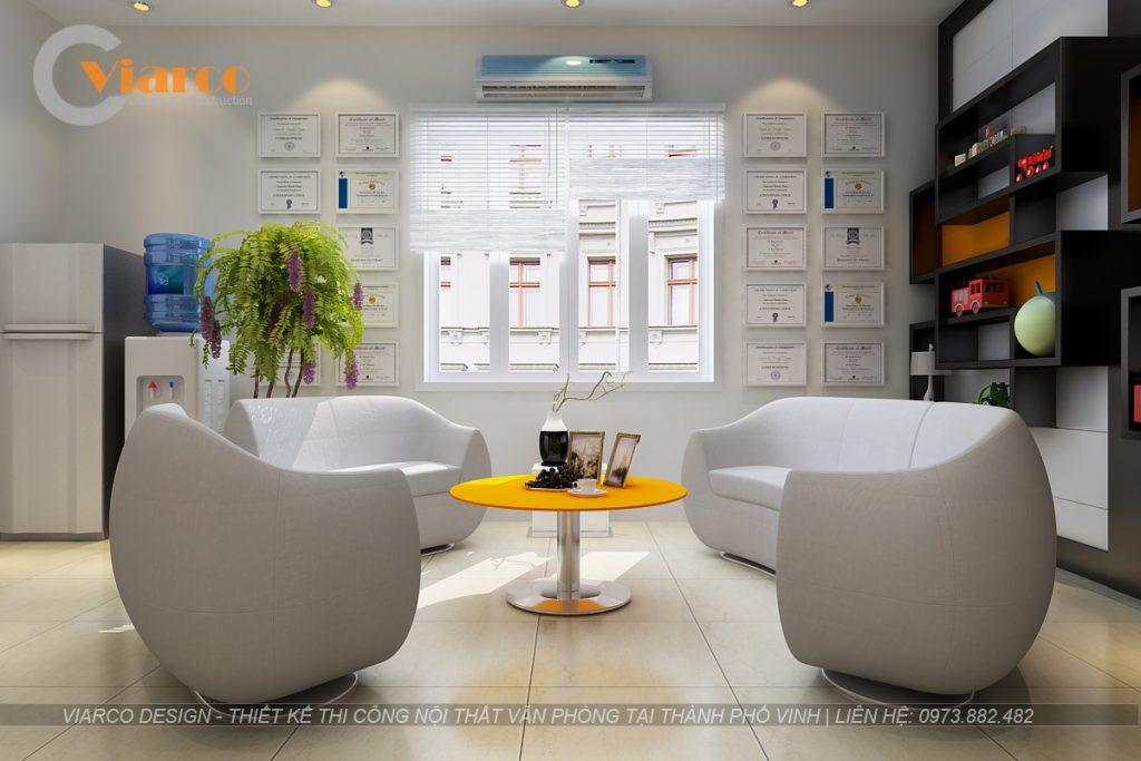 Thiết kế thi công nội thất văn phòng tại thành phố Vinh Nghệ An3