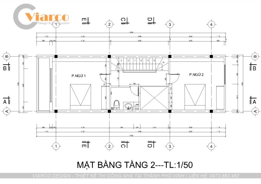 Thiết kế thi công nhà phố 3 tầng hiện đại tại thành phố Vinh Nghệ An1