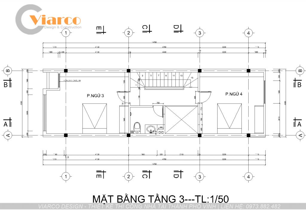 Thiết kế thi công nhà phố 3 tầng hiện đại tại thành phố Vinh Nghệ An2