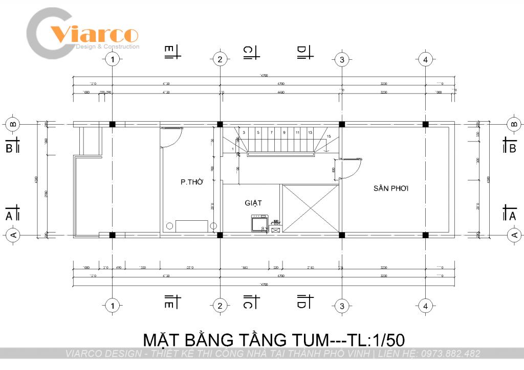 Thiết kế thi công nhà phố 3 tầng hiện đại tại thành phố Vinh Nghệ An3