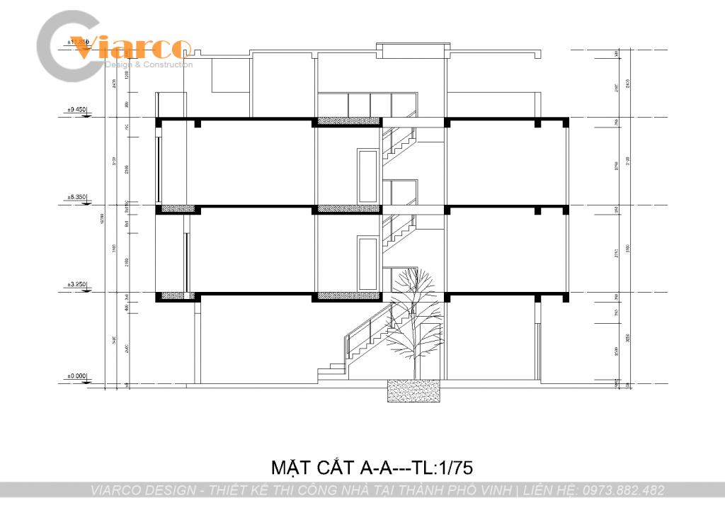 Thiết kế thi công nhà phố 3 tầng hiện đại tại thành phố Vinh Nghệ An4