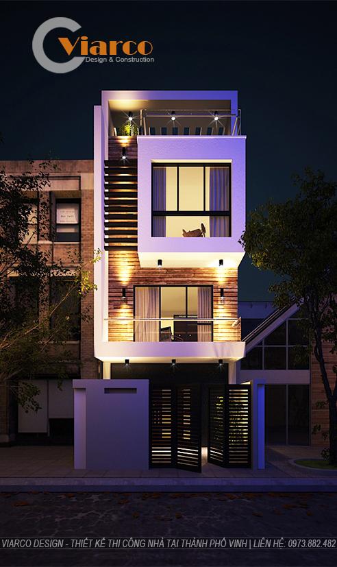 Thiết kế thi công nhà phố 3 tầng hiện đại tại thành phố Vinh Nghệ An5