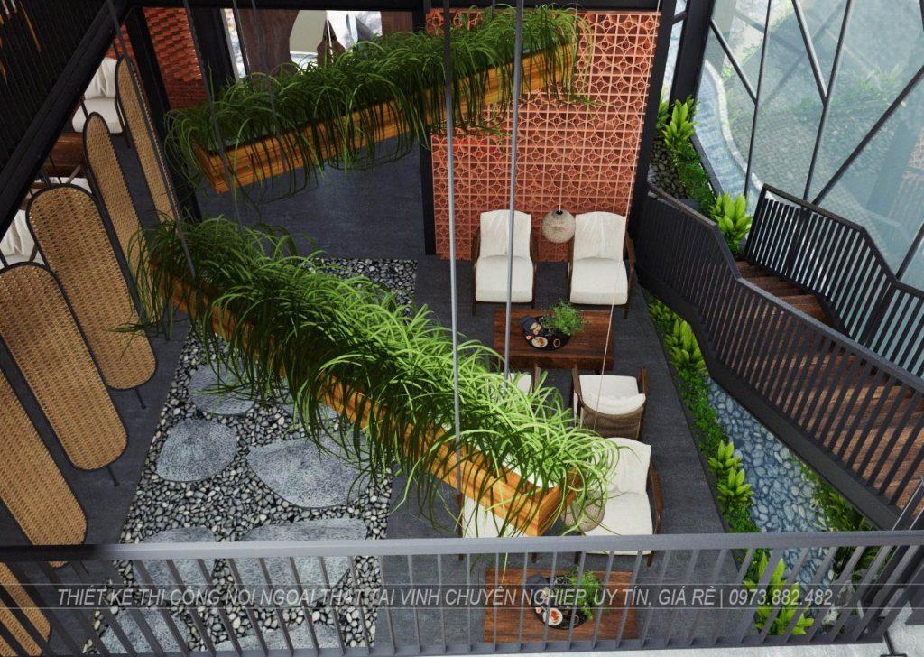 Thiết kế thi công nội thất quán cà phê tại thành phố Vinh Nghệ An3