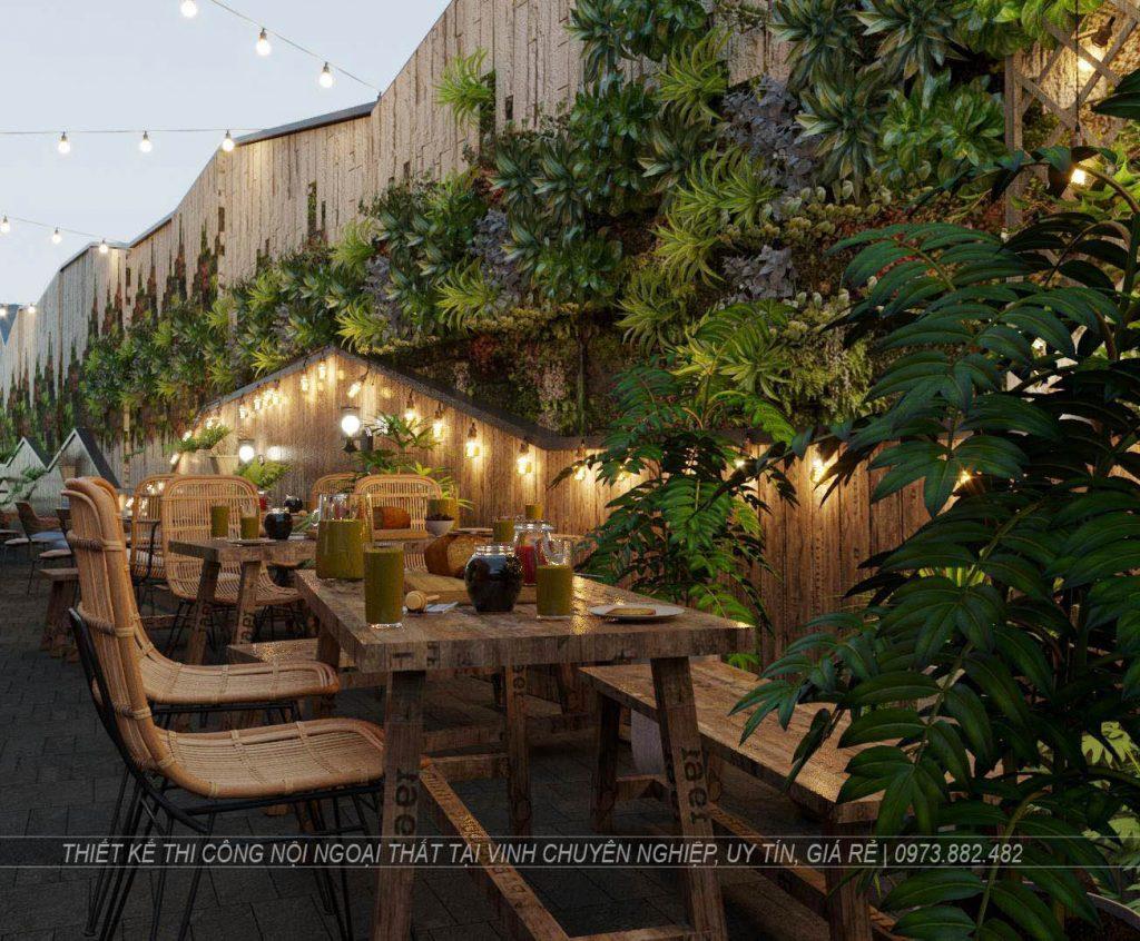 Thiết kế thi công nội thất quán cà phê tại thành phố Vinh Nghệ An1