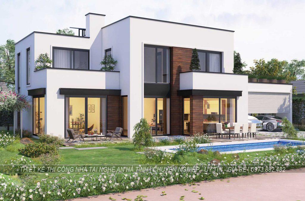 Thiết kế thi công biệt thự tại Hà Tĩnh2