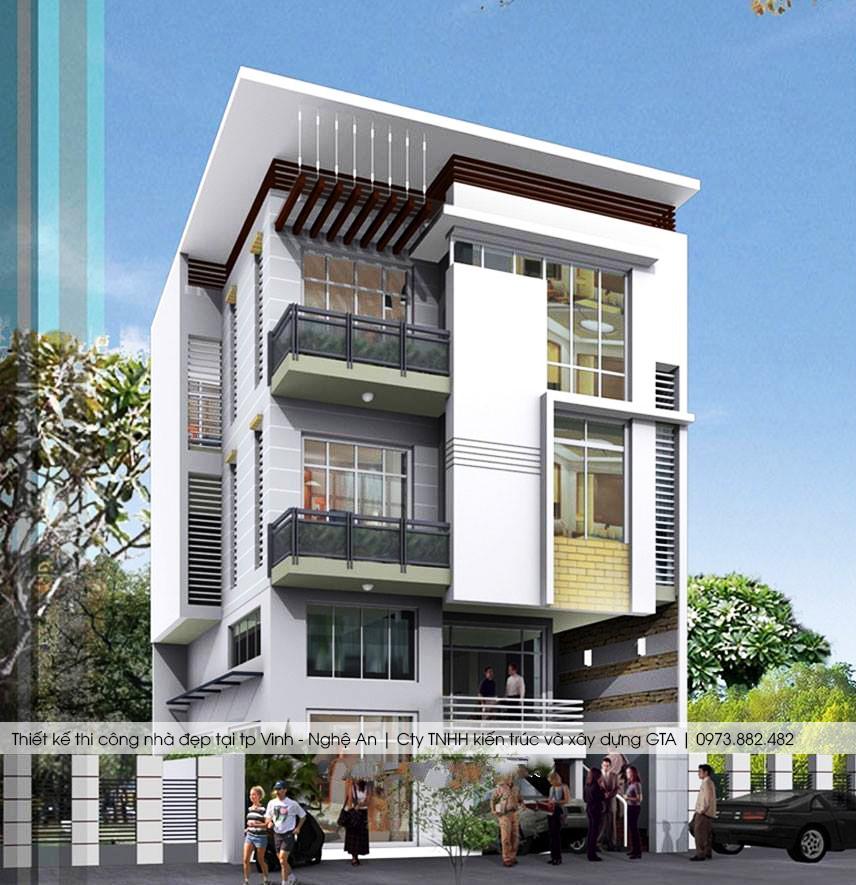Thiết kế nhà ở đẹp tại tp vinh nghệ an 7