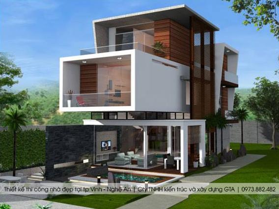 Thiết kế nhà đẹp tại thành phố vinh nghệ an 4