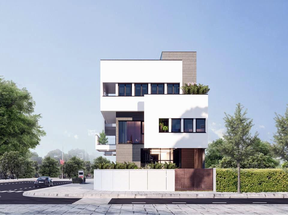 Mẫu thiết kế biệt thự 3 tầng hiện đại tại Nghệ An 2