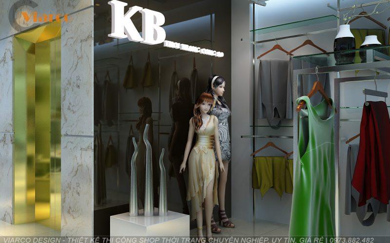 Thiết kế thi công shop thời trang tại thành phố Vinh - Nghệ An