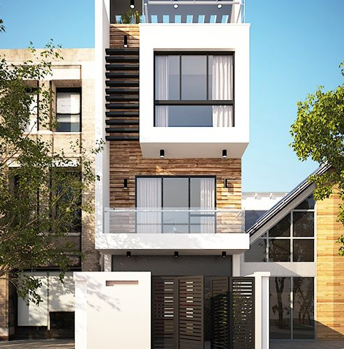 Thiết kế thi công nhà phố 3 tầng hiện đại tại thành phố Vinh Nghệ An